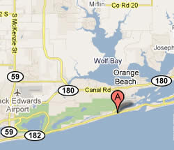 Cotton Bayou Boat Launch Ramp Map