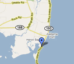 Heron Bay Jemison's Boat Launch Ramp Map