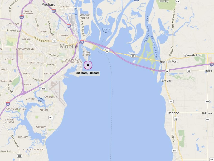 Mobile bay fishing map images fishing and wallpaper for Bay area fishing spots